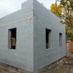 Dunaharaszti alcsony energiafelhasználású ház építése 30 cm vastag ICF elemekből, IsoShel b