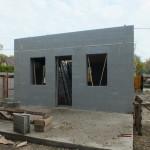 Dunaharaszti alcsony energiafelhasználású ház építése 30 cm vastag ICF elemekből, IsoShel c