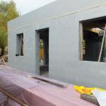 Dunaharaszti alcsony energiafelhasználású ház építése 30 cm vastag ICF elemekből, IsoShell a