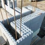 hőszigetelt falszerkezet passív isoshell elemekből gépi betonozással energiatakarékos neoppor d