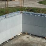 hőszigetelt falszerkezet passív isoshell elemekből gépi betonozással energiatakarékos neoppor m