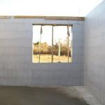 passív falelem hőszigetelt zsalurendszer isoshell icg szerkezet szerkezet építése a tetőszerkezet falazás munkák vége  i