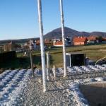 passív falelem hőszigetelt zsalurendszer isoshell icg szerkezet szerkezet építése a tetőszerkezet falazás munkák vége  l